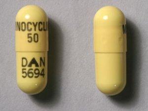 RX ITEM-Minocycline 50Mg Cap 100 By Actavis Pharma(Teva)