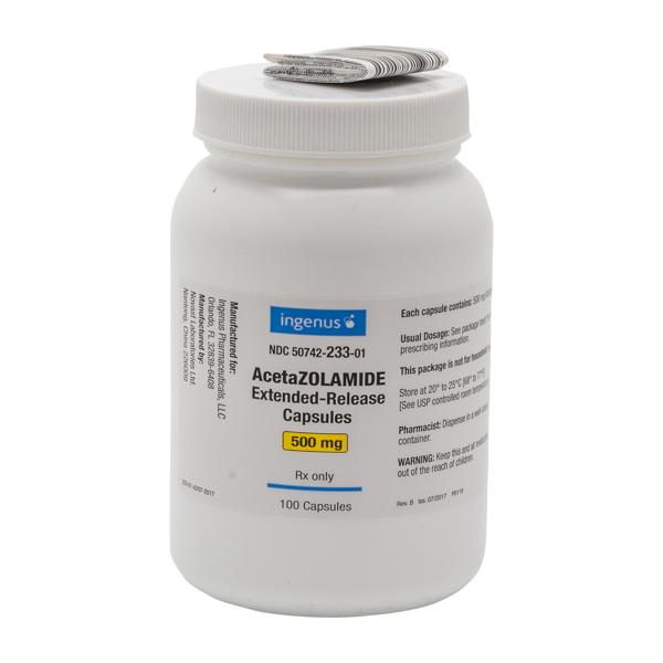 '.Acetazolamide 500mg ER Cap 100.'