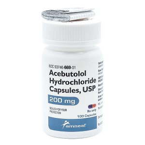'.Acebutolol 200mg Cap 100 By Am.'