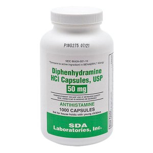 Diphenhydramine 50 mg Cap 1000 BY SDA LABS