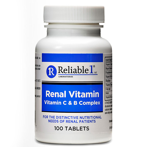 Renal Vitamins Tablet 100 Count By Reliable 1 Advance Pharma