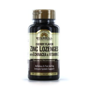 ZINC W/ ECHINACEA AND VIT C LOZ 60CT By Windmill Health Products