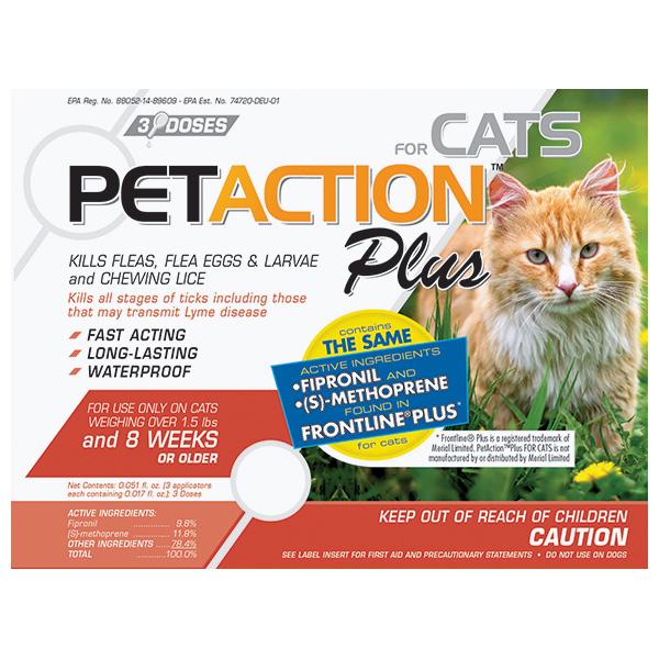 Frontline Plus For Cats 3 Sl By Petiq Otc(Vet)